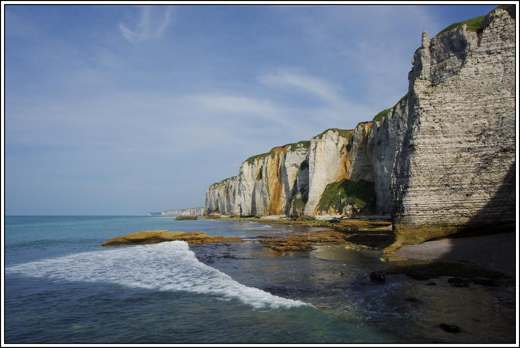 Sortie en Normandie avec des falaises, la mer, les vaches .... K5007622